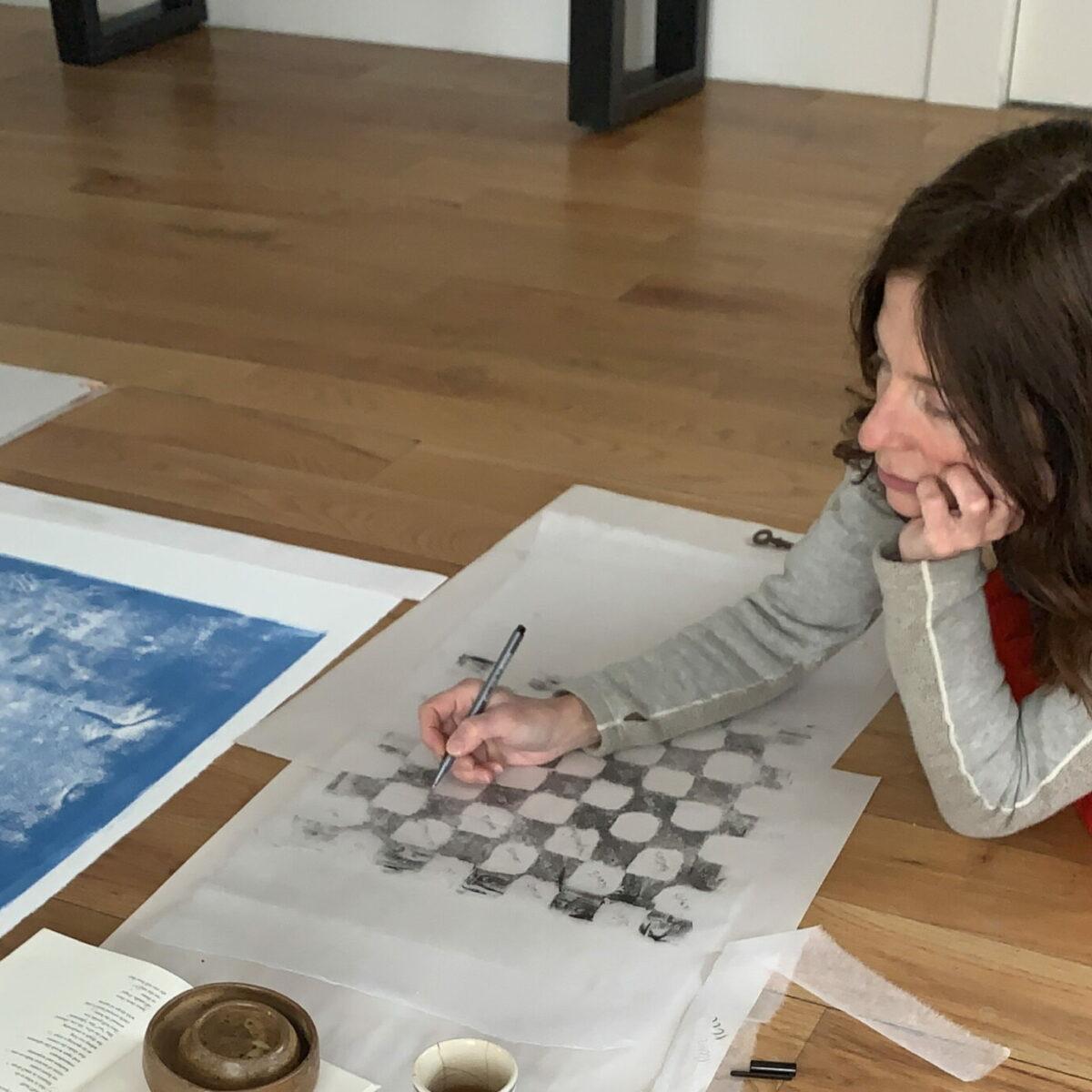 Belgin Yucelen Printmaking at her studio