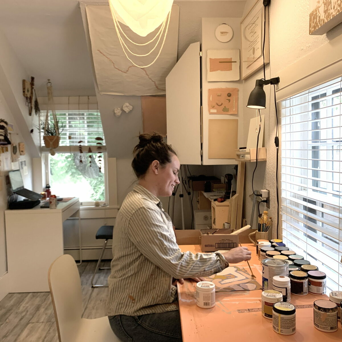 Elizabeth Groth at work at her studio at House of Serein Boulder